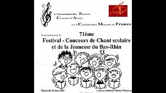 Le Chant Scolaire a son festival-concours dans le Bas-Rhin