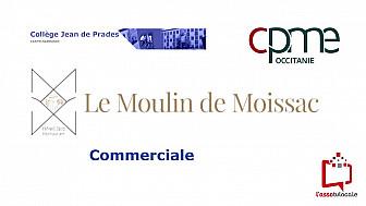 @CPMEoccitanie - des Jeunes du collège Jean de Prades de Castelsarrasin découvrent le métier de Commerciale  à  L'Hôtel & Spa Moulin de Moissac 82